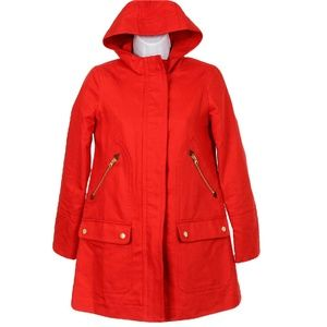 J Crew Chateau Trench Coat Fiery S